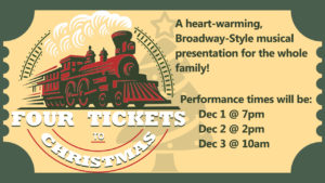 Deer Flat Church Presents Four Ticket to Christmas @ Deer Flat Church
