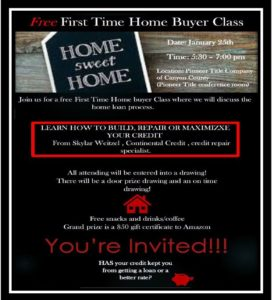 Free Credit Repair class for Home Buyers @ Free First Time Home Buyer class with Credit Repair Specialist | Nampa | Idaho | United States