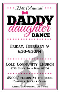 21st Annual Daddy Daughter Dance @ Cole Community Church | Boise | Idaho | United States
