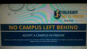 National Collegiate Day of Prayer @ Young Life Boise State | Boise | Idaho | United States